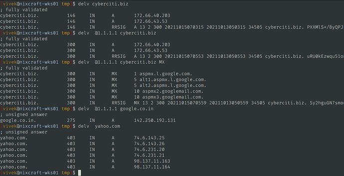 """DIG command """";; +sigchase option is deprecated;; +trusted-key option is deprecated"""" on Linux"""