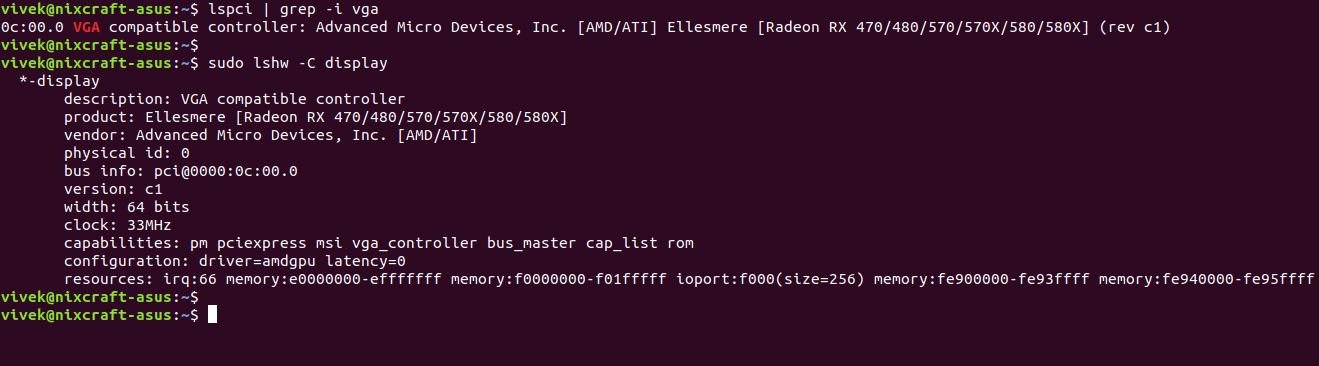 How to find AMD GPU information on Linux - Linux - nixCraft