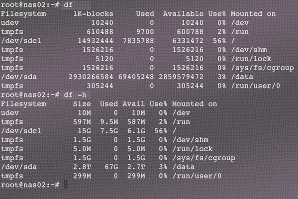 Linux check space left on network drive - Linux - nixCraft
